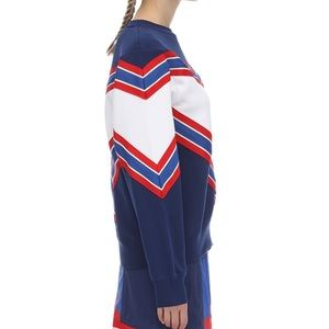 Nike Tops - NWT Nike Sweatshirt Chevon Red White Blue BV2920